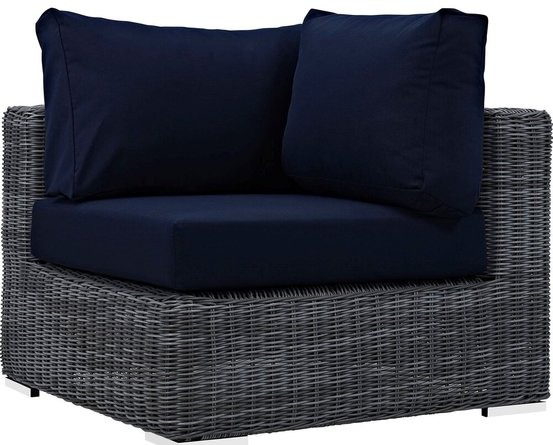 Summon Outdoor Corner Sofa Canvas Navy