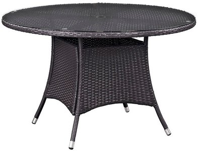 "Convene 47"" Round Outdoor Dining Table Espresso"