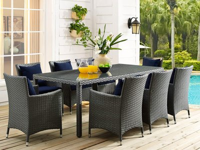 """Sojourn 82"""" Outdoor Dining Table Chocolate"""