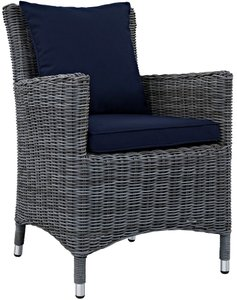 Summon Dining Armchair Canvas Navy