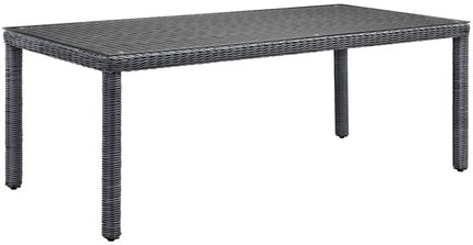 "Summon 83"" Outdoor Dining Table Gray"