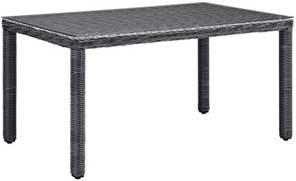 "Summon 59"" Outdoor Dining Table Gray"