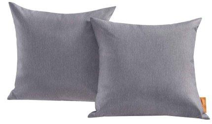 Convene Outdoor Patio Pillow Gray (Set of 2)