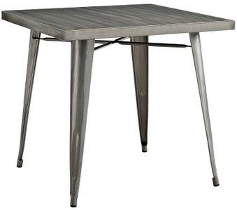 Alacrity Square Dining Table Gunmetal