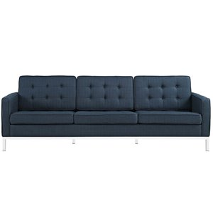 Loft Upholstered Fabric Sofa Azure