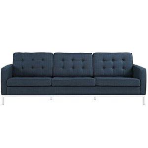Loft Upholstered Fabric Sofa Azure