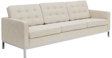 Loft Upholstered Fabric Sofa Beige