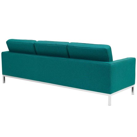 Loft Upholstered Fabric Sofa Teal