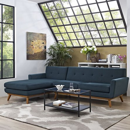 Engage Left-Facing Sectional Sofa Azure