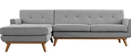 Engage Left-Extended Sectional Sofa Expectation Gray