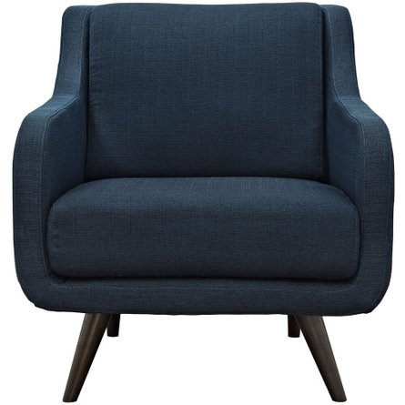 Verve Upholstered Fabric Armchair Azure