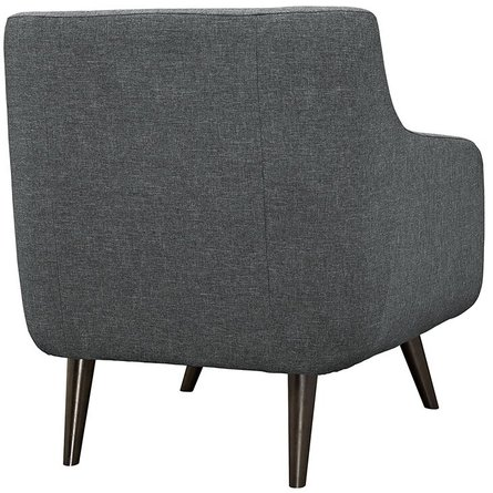Verve Upholstered Fabric Armchair Gray