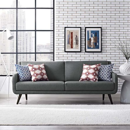 Verve Upholstered Fabric Sofa Gray