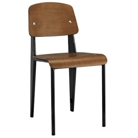 Cabin Dining Chair Walnut Black