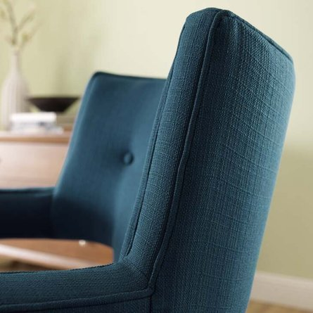 Sheer Upholstered Fabric Armchair Azure