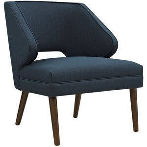 Dock Upholstered Fabric Armchair Azure