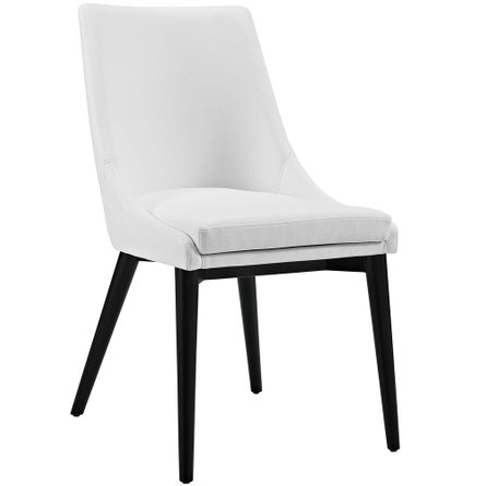Viscount Vinyl Dining Chair White