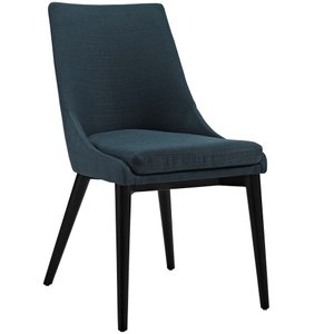 Viscount Fabric Dining Chair Azure