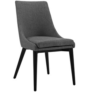 Viscount Fabric Dining Chair Gray