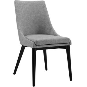 Viscount Fabric Dining Chair Light Gray