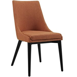 Viscount Fabric Dining Chair Orange
