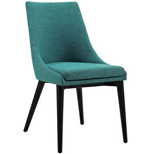 Viscount Fabric Dining Chair Teal