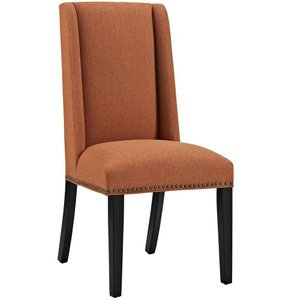 Baron Fabric Dining Chair Orange