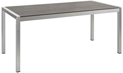 Shore Outdoor Dining Table Silver & Gray