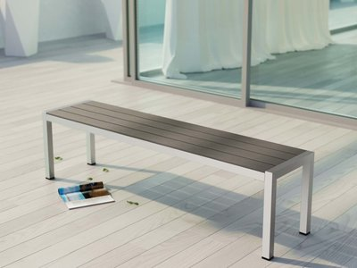 Shore Outdoor Bench Silver & Gray