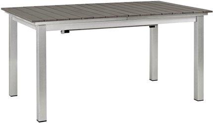 Shore Outdoor Extendable Dining Table Silver & Gray