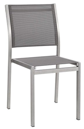 Shore Outdoor Side Chair Silver & Gray