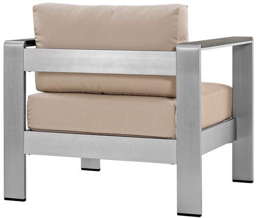 Shore Outdoor Armchair Beige & Silver