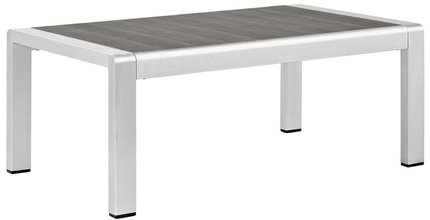 Shore Outdoor Coffee Table Silver & Gray
