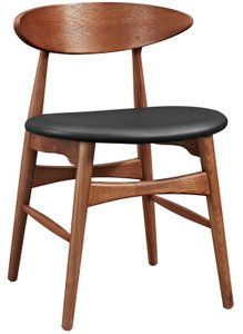 Ebee Dining Chair Walnut And Black