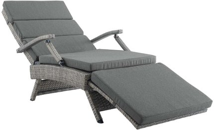 Envisage Chaise Outdoor Lounge Chair Light Gray & Charcoal