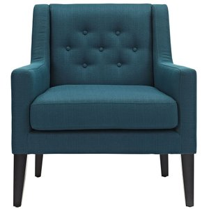 Earnest Upholstered Fabric Armchair Azure