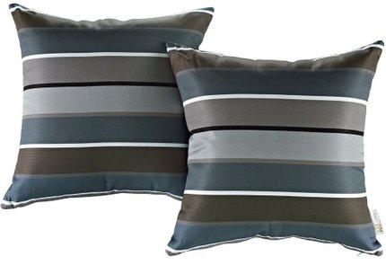 Outdoor Patio Stripe Pillow Multicolor (Set of 2)