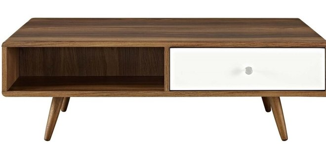 Transmit Coffee Table Walnut And White