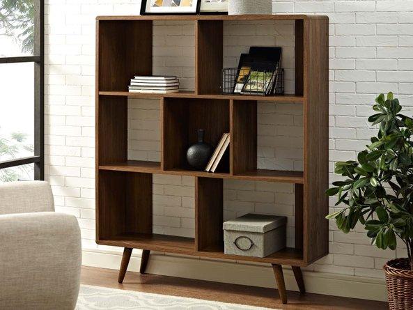 Transmit Bookcase Walnut