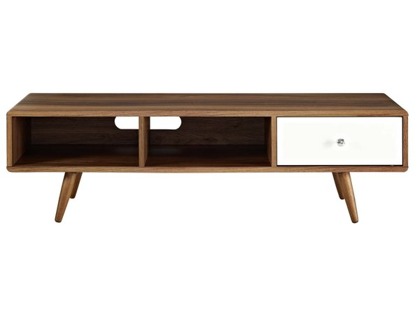 "Transmit 55"" TV Stand Walnut And White"