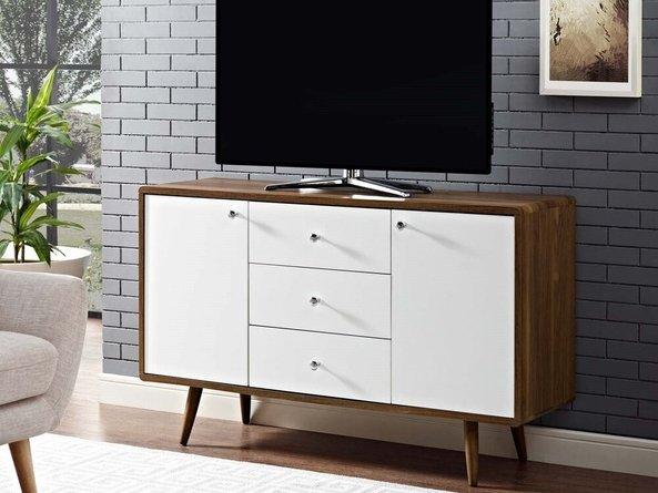 Transmit Sideboard Walnut & White