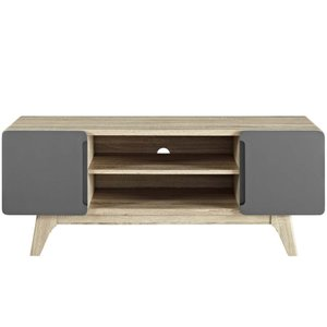 "Tread 47"" TV Stand Natural Gray"