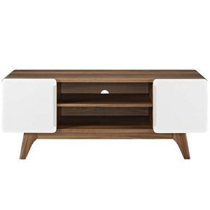"Tread 47"" TV Stand Walnut And White"