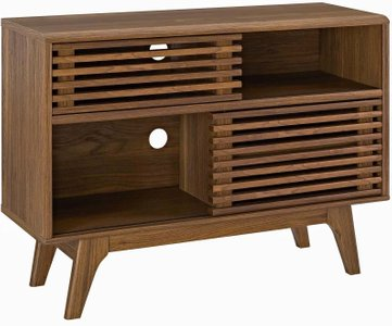 Render Display Stand Walnut