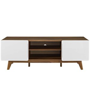 "Tread 59"" TV Stand Walnut And White"