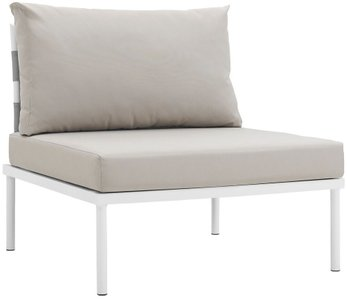 Harmony Armless Outdoor Chair White & Beige
