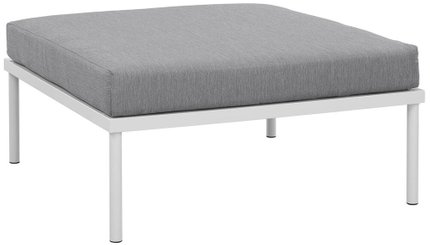 Harmony Outdoor Ottoman White Gray