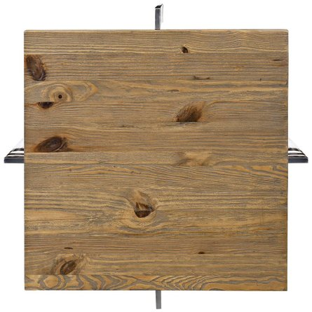 Diverge Wood Side Table Brown