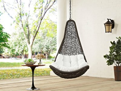 Abate Outdoor Swing Chair Without Stand Gray & White