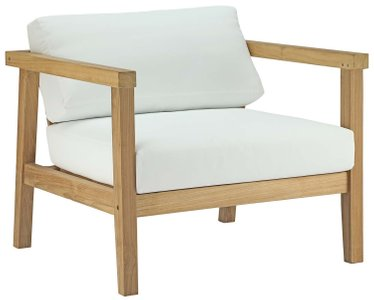 Bayport Outdoor Armchair Natural & White